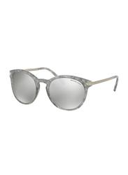 Michael Kors Full Rim Wayfarer Gray Tortoise Sunglasses for Women, Grey Gradient Lens, MK2023, 53/21/135