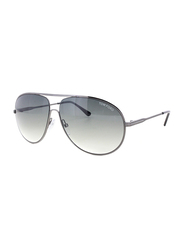 Tom Ford Cliff Full Rim Aviator Sunglasses for Men, Grey Lens, TF0450 09B, 61/11/140