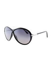 Tom Ford Tamara Full Rim Butterfly Black Sunglasses for Women, Grey Gradient Lens, TF454 01C, 64/5/130