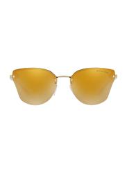 Michael Kors Sanibel Rimless Butterfly Gold Sunglasses for Women, Mirrored Gold Lens, MK2068 30094Z, 58/16/140