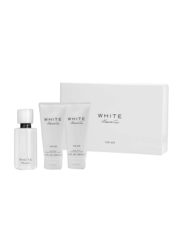 Kenneth Cole 3-Piece White for Her Gift Set for Women, 100ml EDP, 100ml Body Lotion, 100ml Body Wash