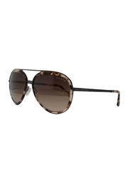 Tom Ford Andy Full Rim Aviator Black Sunglasses for Men, Brown Lens, FT 468 56Z, 58/17/140