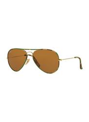 Ray-Ban Polarized Full Rim Aviator Camouflage Sunglasses Unisex, Brown Lens, RB3025JM 169, 55/14/135