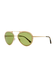 Tom Ford Dashel Full Rim Aviator Gold Sunglasses for Unisex, Green Gradient Lens, TF 508 28N, 55/18/145