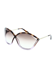 Tom Ford Bella Full Rim Butterfly Brown Sunglasses for Women, Brown Lens, TF529 56F 71, 71/5/120