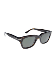 Tom Ford Snowdon Full Rim Square Brown Sunglasses Unisex, Green Lens, TF237 52N, 52/21/145