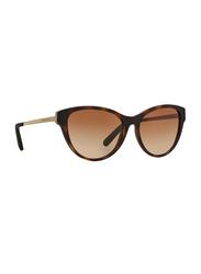 Michael Kors Punte Arenas Full Rim Cat Eye Tortoiseshell Butter Sunglasses for Women, Brown Gradient Lens, MK6014 302113, 57/16/135