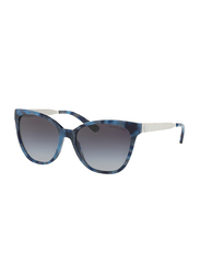 Michael Kors Napa Full Rim Square Navy Marble Sunglasses for Women, Grey Gradient Lens, Mk2058 331011, 55/17/140