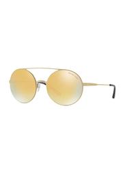 Michael Kors Cabo Full Rim Round Gold Sunglasses for Women, Mirrored Gold Lens, MK1027 11937P, 55/19/135