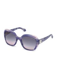 Roberto Cavalli Tseen Full Rim Oversized Purple Sunglasses for Women, Grey Gradient Lens, Ke-989S 83B, 56/20/135