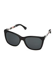 Emporio Armani Full Rim Cat Eye Black Sunglasses for Women, Black Lens, EA 4075 501787, 57/17/140