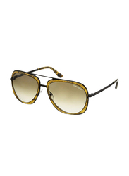 Tom Ford Sam Full Rim Aviator Tortoise Sunglasses Unisex, Brown Gradient Lens, TF0469 41P, 59/16/140
