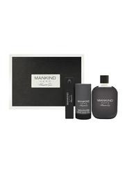 Kenneth Cole 3-Piece Mankind Hero Gift Set for Men, 100ml EDT, 15 EDT, 75ml Deodorant Stick