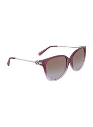 Michael Kors Marrakesh Full Rim Cat Eye Purple Sunglasses for Women, Lavender Gradient Lens, MK6006 315994, 57/16/140