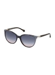 Roberto Cavalli Theemin Full Rim Cat Eye Grey Sunglasses for Women, Grey Gradient Lens, 986S 20B, 56/17/140