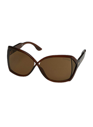 Tom Ford Julianne Full Rim Oversized Sunglasses for Women, Brown Lens, FT0427 48J, 62/11/115