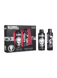 Marvel 2-Piece The Punisher Gift Set for Men, 200ml Body Spray, 250ml Shower Gel
