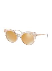 Michael Kors Melbourne Full Rim Cat Eye Gold Sunglasses for Women, Mirrored Gold Lens, MK1038 30505A, 52/20/140