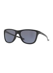 Oakley Reverie Full Rim Square Polished Black Sunglasses for Women, Grey Lens, OO9362-01, 55/16/131