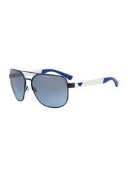 Emporio Armani Full Rim Pilot Matt Black/Matt Blue Sunglasses for Men, Blue Gradient Lens, EA2064 32248F, 62/16/130