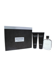 Kenneth Cole 3-Piece Mankind Gift Set for Men, 100ml EDT, 100ml After Shave Balm, 100ml Hair and Body Wash