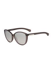 Calvin Klein Full Rim Cat Eye Sunglasses for Women, Mirrored Grey Lens, CKJ784S 047, 58/14/135