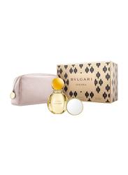 Bvlgari 3-Piece Goldea Gift Set for Women, 90ml EDP, Beauty Pouch, Beauty Mirror