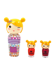 Kokeshi 3-Piece Litchee Gift Set for Girls, 50ml EDT, 2 Nail Lacquers