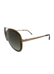 Tom Ford Andy Full Rim Aviator Brown/Rose Gold Sunglasses Unisex, TF468 41K, Grey Gradient Lens, 58/17/140