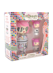 Kokeshi 3-Piece Cheery by Valeria Attinelli Gift Set for Girls, 50ml EDT, 2 Nail Lacquers