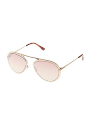 Tom Ford Dashel Full Rim Aviator Gold Sunglasses for Unisex, Rose Gold Lens, TF 508 28Z, 55/18/145