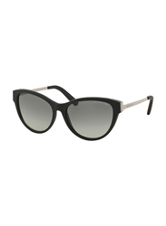 Michael Kors Punte Arenas Full Rim Cat Eye Black Sunglasses for Women, Grey Gradient Lens, MK6014 302211, 57/16/135