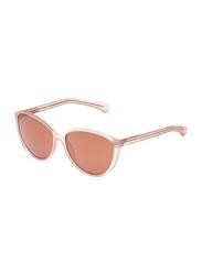 Calvin Klein Full Rim Cat Eye Sunglasses for Women, Mirrored Brown Lens, CKJ784S 603, 58/14/135