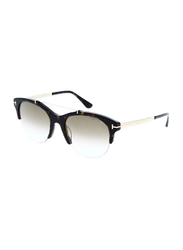Tom Ford Adrenne Half Rim Cat Eye Brown Sunglasses for Women, Brown Lens, TF517 52G 55, 55/19/140