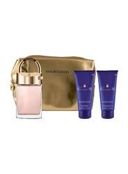 Mauboussin 4-Piece Promise Me Gift Set for Women, 90ml EDP, 100ml Shower Gel, 100ml Body Lotion, Bag