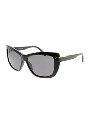 Tom Ford Lindsay Polarized Full Rim Cat Eye Black Sunglasses Unisex, Grey Lens, TF434 01D, 58/13/140