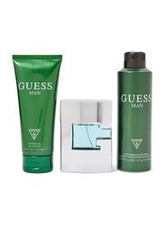 Guess 3-Piece Green Gift Set for Men, 75ml EDT, 200ml Shower Gel, 226ml Body Spray