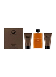 Gucci 4-Piece Guilty Absolute Travel Set for Men, EDP 90ml, After Shave 50ml, Shampoo 50ml