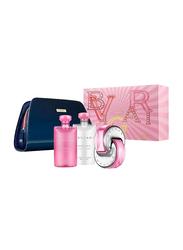 Bvlgari 4-Piece Omnia Pink Sapphire Gift Set for Women 65ml EDT, 75ml Body Lotion, 75ml Shower Gel, Pouch