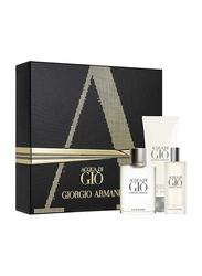 Giorgio Armani 3-Piece Acqua di Gio Gift Set for Men, 100ml EDT, 75ml After Shave Balm, 75ml Shower Gel