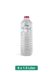 Sophia Turkish Natural Still Mineral Water, 6 Plastic Bottles x 1.5 Liter