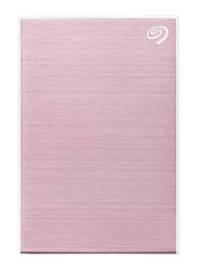 Seagate 2TB HDD Backup Plus Slim External Portable Hard Drive, USB 3.0, Rose Gold