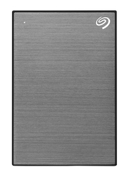 Seagate 2TB HDD Backup Plus Slim External Portable Hard Drive, USB 3.0, Space Gray