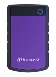 Transcend 1TB HDD StoreJet 25H3P External Portable Hard Drive, USB 3.0, Purple