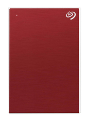 Seagate 2TB HDD Backup Plus Slim External Portable Hard Drive, USB 3.0, Red