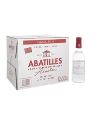 Abatilles Sparkling Natural Mineral Water, 12 Glass Bottles x 500ml
