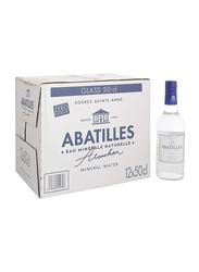Abatilles Still Natural Mineral Water, 12 Glass Bottles x 500ml