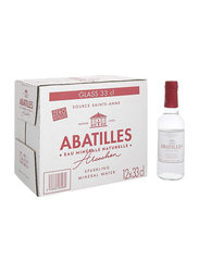 Abatilles Sparkling Natural Mineral Water, 12 Glass Bottles x 330ml