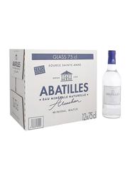 Abatilles Still Natural Mineral Water, 12 Glass Bottles x 750ml