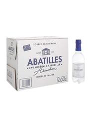 Abatilles Still Natural Mineral Water, 12 Plastic Bottles x 500ml